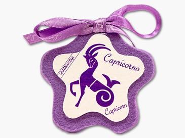 Cuore in stoffa zodiaco Capricorno