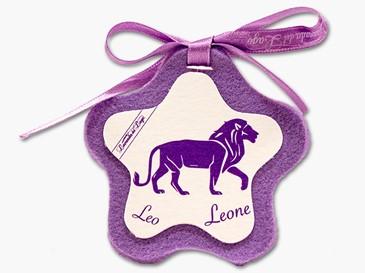 Cuore in stoffa zodiaco Leone