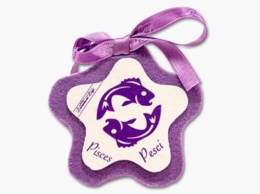 Cuore in stoffa zodiaco Pesci