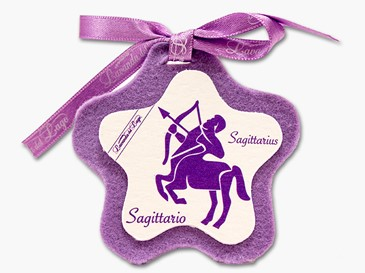 Cuore in stoffa zodiaco Saggitario
