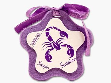 Cuore in stoffa zodiaco Scorpione