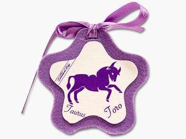 Cuore in stoffa zodiaco Toro